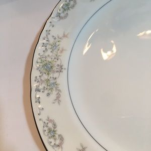 Vintage Dining - (4) Norleans China Theresa Curved Dinner Plates